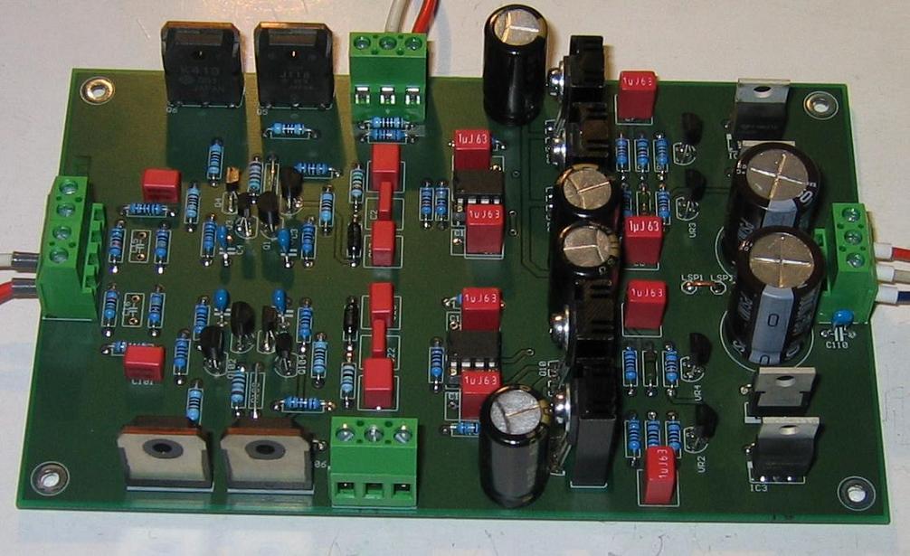 Mosfet 240w Power Audio Amplifier Schematic